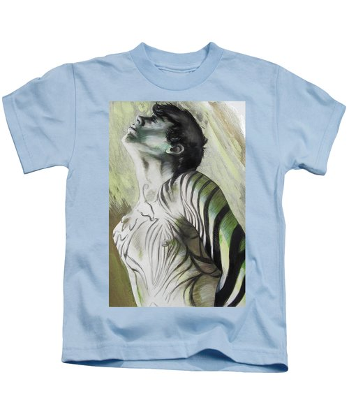 Zebra Boy In Spring Kids T-Shirt