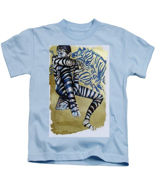 Zebra Boy The Lost Gold Drawing  Kids T-Shirt