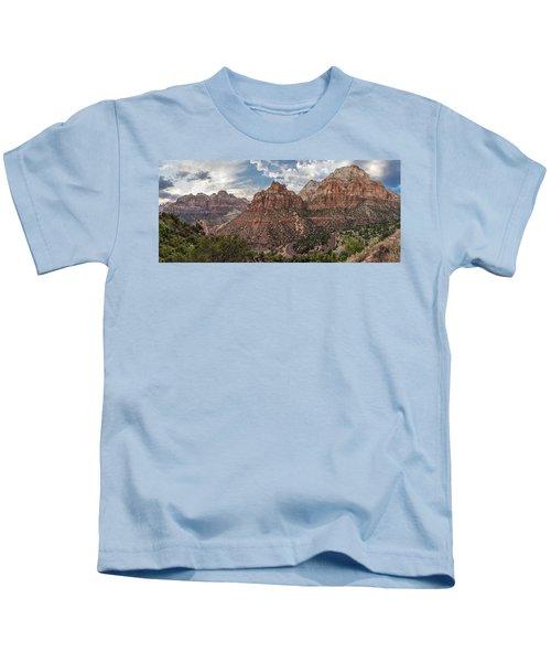Zion National Park Switchback Road Kids T-Shirt