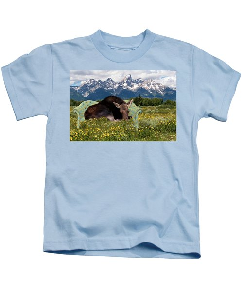 Nap Time In The Tetons Kids T-Shirt