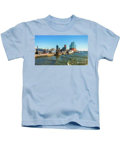 Panoramic View Of Hamburg. Kids T-Shirt