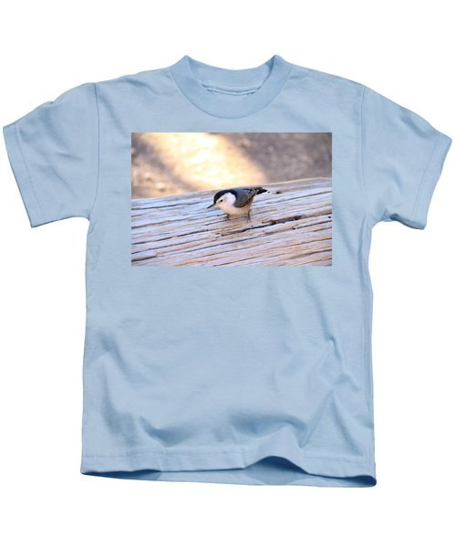 White Breasted Nuthatch Kids T-Shirt