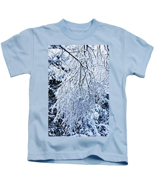 30/01/19  Rivington. Snow Covered Branches. Kids T-Shirt