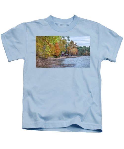 A Peaceful Place On An Autumn Day Kids T-Shirt
