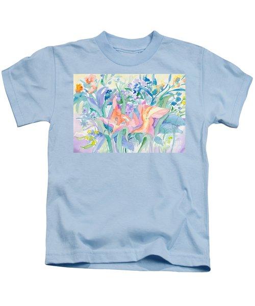 Abstract Lilies Kids T-Shirt