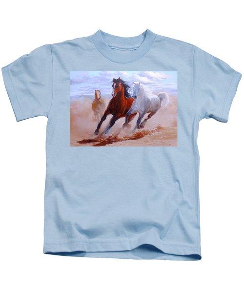 Adventurous Horses Kids T-Shirt