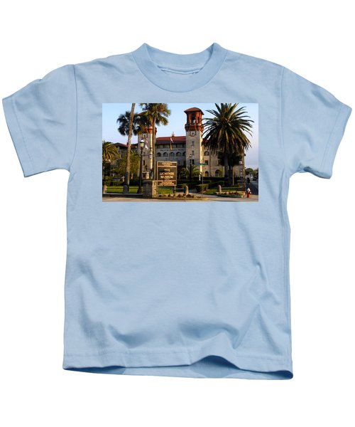 Alcazar Hotel And Lightner Museum St. Augustine Fl. Kids T-Shirt
