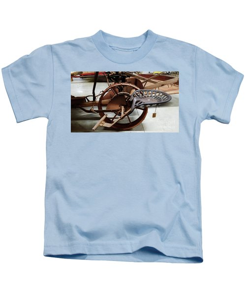 Antique Tractor Seat Kids T-Shirt