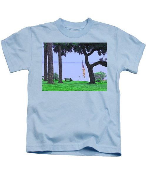 A Patriotic Scenic View From Fairhope Alabama Kids T-Shirt