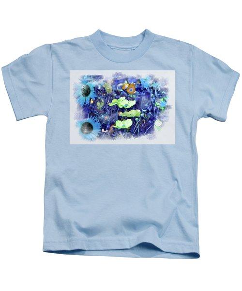 Aqua Blue Kids T-Shirt