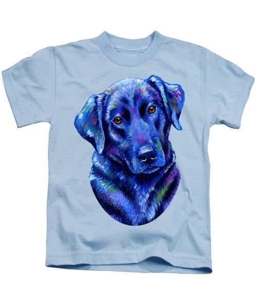 Colorful Black Labrador Retriever Dog Kids T-Shirt