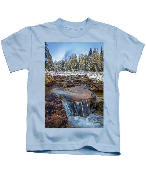 Assiniboine Winter Stream Kids T-Shirt