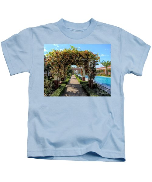 Awesome Getty Villa Landscape Walkway Pool California  Kids T-Shirt