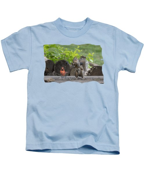 Backyard Squirrel Working Out With Trainer Kids T-Shirt