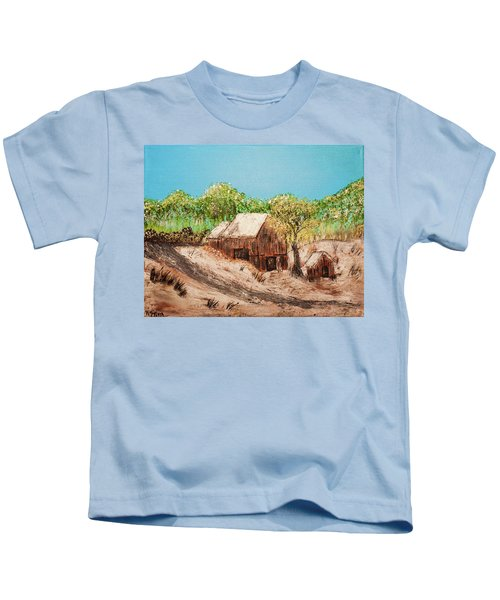 Barn On The Hill Kids T-Shirt