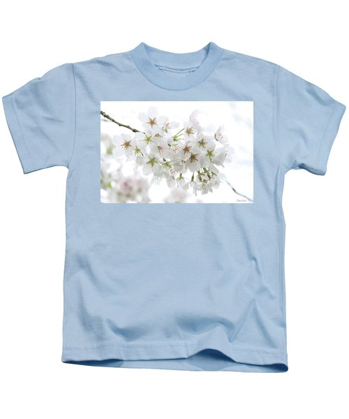 Beautiful White Cherry Blossoms Kids T-Shirt