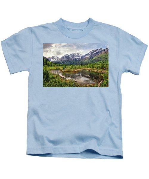 Beaver Pond, Eagle River Ak Kids T-Shirt
