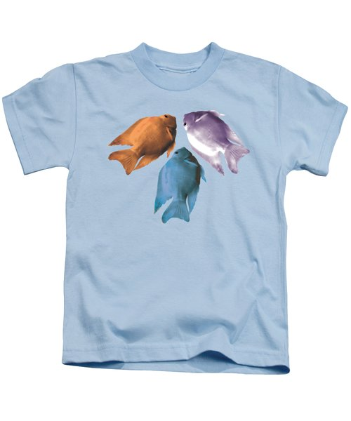 Best Friendship With Coloful Three Fishes  Kids T-Shirt