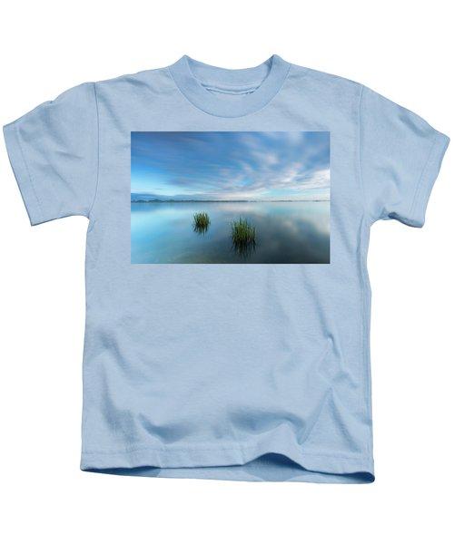 Blue Whirlpool Kids T-Shirt
