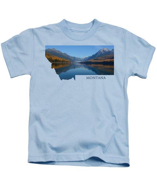 Bowman Lake- Montana Kids T-Shirt
