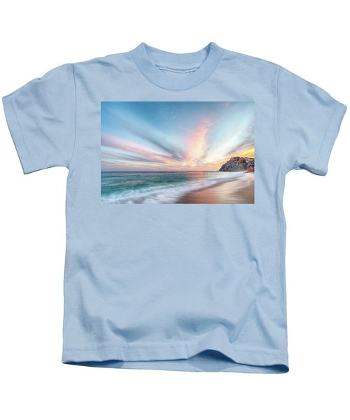 Cabo San Lucas Beach Sunset Mexico Kids T-Shirt