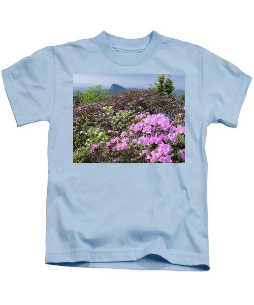 Catawba Rhododendron Table Rock  Kids T-Shirt