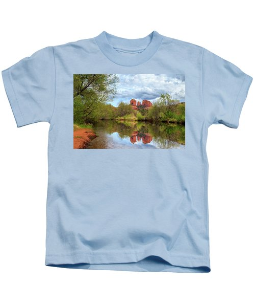 Cathedral Rock Reflection Kids T-Shirt