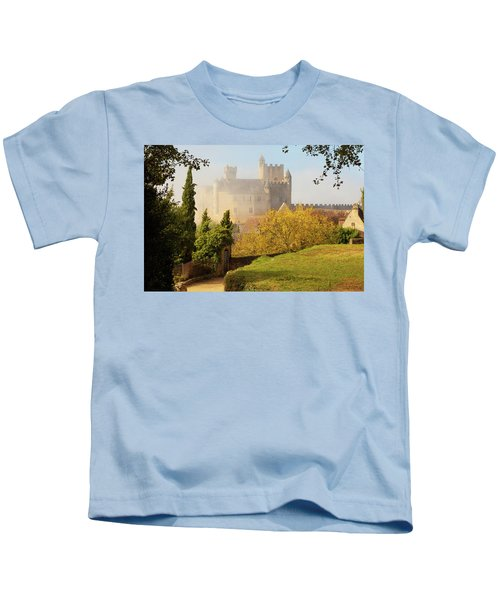 Chateau Beynac In The Mist Kids T-Shirt