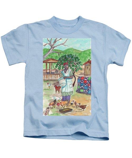 Chicken Feeding Time Kids T-Shirt