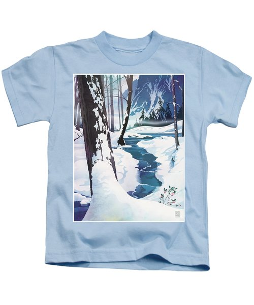 Morning At Christmas Creek Kids T-Shirt