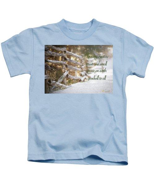 Christmas W/bobcat Kids T-Shirt