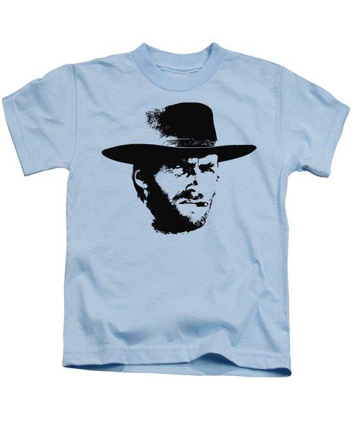 Clint Eastwood Minimalistic Pop Art Kids T-Shirt