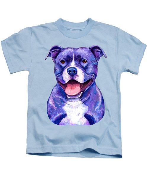 Colorful Pitbull Terrier Dog Kids T-Shirt