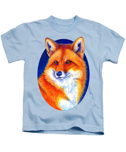 Colorful Red Fox Kids T-Shirt