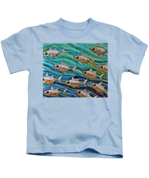 Coloured Water Fish Kids T-Shirt