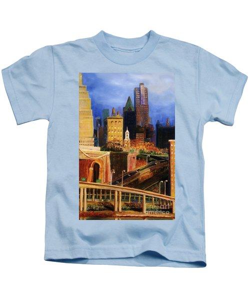 Dawn At City Hall Kids T-Shirt