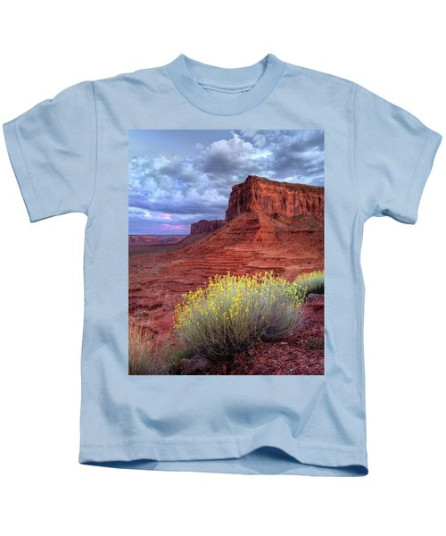 Desert Bouquets On A Stormy Eve Kids T-Shirt