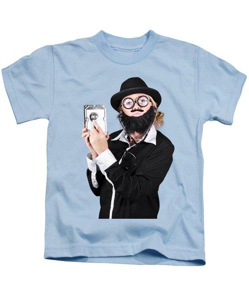 Doctor Examining Hard Drive Kids T-Shirt