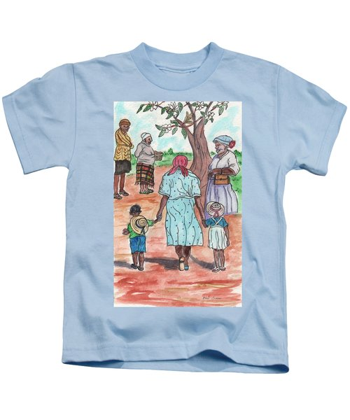 Down The Red Road And Past The Magnolia Tree Kids T-Shirt