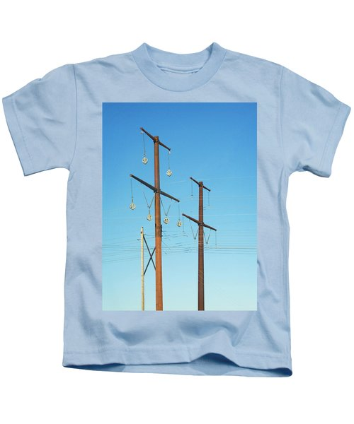 Electric Line Pulleys Kids T-Shirt