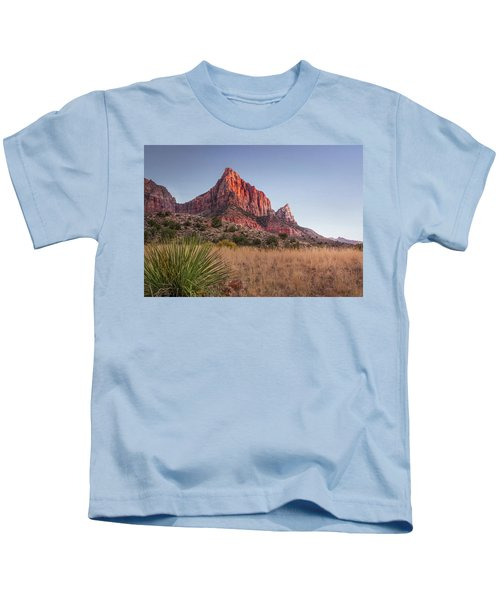 Evening Vista At Zion Kids T-Shirt