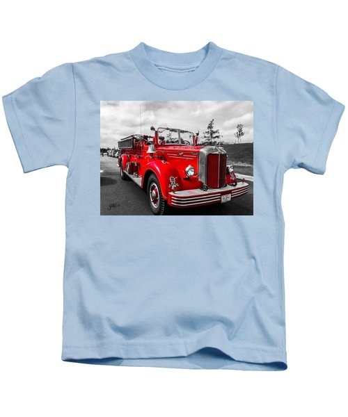 Kids T-Shirt featuring the photograph Fire Engine by Chris Montcalmo
