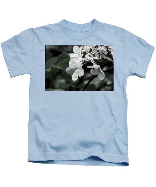 Flower And Rain Drops  8645 Kids T-Shirt