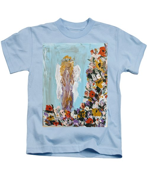 Flower Child Angel Kids T-Shirt