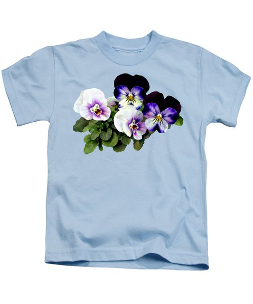 Four Pansies Kids T-Shirt