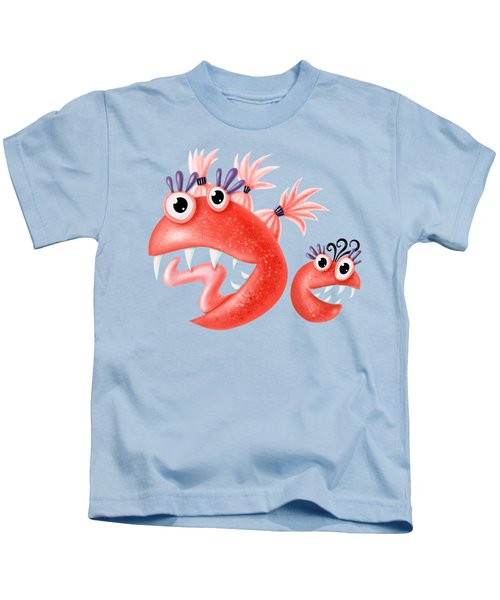 Funny Monster Friends Happy Silly Creatures Kids T-Shirt