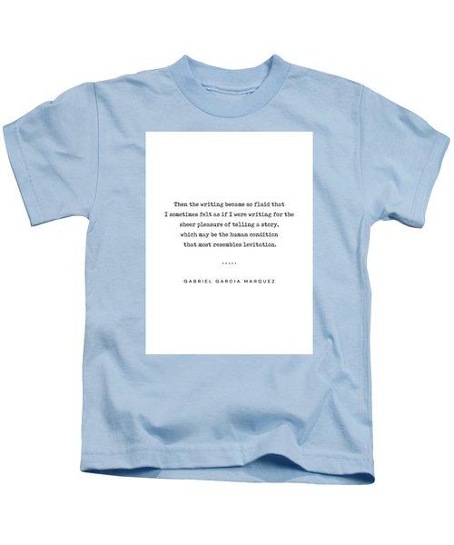 Gabriel Garcia Marquez Quote 02 - Typewriter - Minimal, Modern, Classy, Sophisticated Art Prints Kids T-Shirt