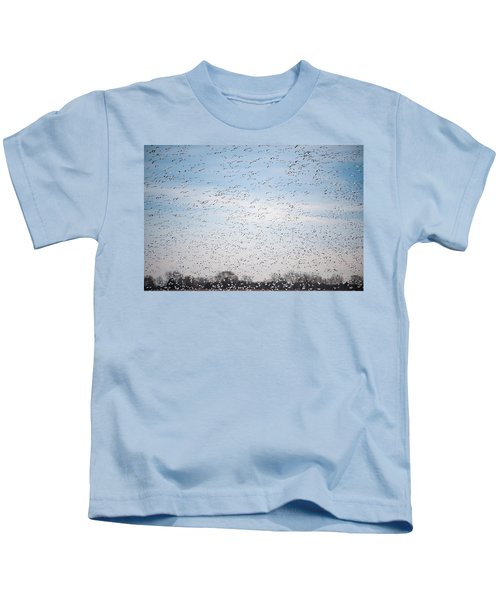 Geese In The Flyway Kids T-Shirt