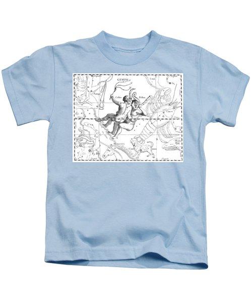 Gemini Engraving From A Celestial Atlas  Kids T-Shirt