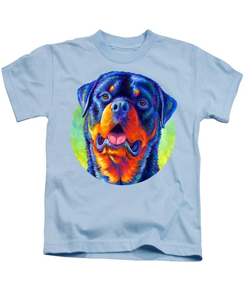 Gentle Guardian Colorful Rottweiler Dog Kids T-Shirt